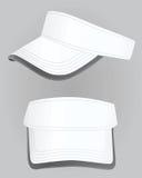 White visor cap vector. Illustration Stock Photos