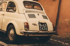 White Volkswagen Beetle Royalty Free Stock Photo