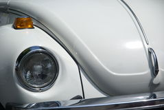 White Volkswagen Beetle  Royalty Free Stock Images