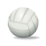White Volleyball Isolated on a White Background Illustration Stock Photo