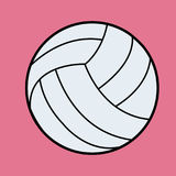White Volleyball vector.Volleyball icon on pink Royalty Free Stock Images