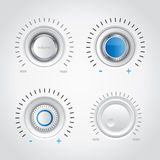 White volume knob set Stock Images