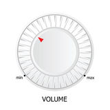 White volume knob vector illustration Royalty Free Stock Image