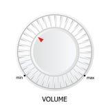 White volume knob vector illustration Royalty Free Stock Image