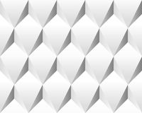 White volumetric abstract texture (seamless). Modern concept pattern (rhombus Vector Illustration