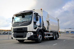 White Volvo FE Refuse Collector Truck Royalty Free Stock Image
