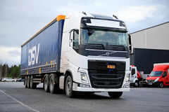 White Volvo FH 500 on Asphalt Yard Stock Image
