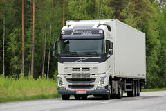 White Volvo FH Truck on the Road Royalty Free Stock Photography