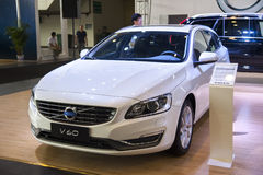 White volvo v60 car Stock Image