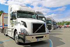 White Volvo VNL Truck on Display at Tawastia Truck Weekend Royalty Free Stock Photography