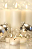 White votive candles Royalty Free Stock Images