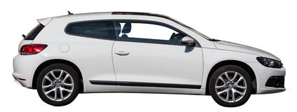 White VW scirocco on a transparent background Stock Photography
