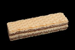 White wafer closeup. Isolated on black background royalty free stock images