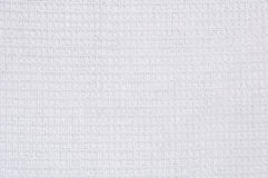White waffle cloth texture Royalty Free Stock Images