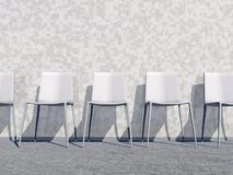 White waiting room - 3D render Royalty Free Stock Photo