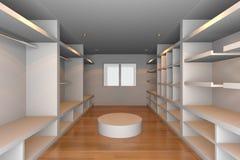 White walk-in closet Royalty Free Stock Photo