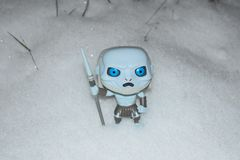 White Walker, GOT finale, Season 8 stock photography