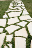 White Walkway stones Stock Photography