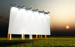 White wall. An illustration of a nice advertising wall sunset Stock Images