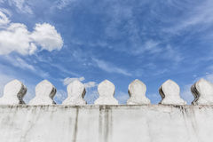 White wall of the ancient palace Royalty Free Stock Photography