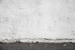 White Wall And Asphalt Pavement. Urban Interior Royalty Free Stock Photography