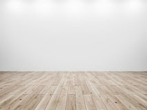 White Wall And Wood Floor Background Stock Photography