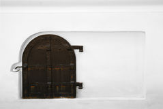 White wall with the armored door Stock Photography