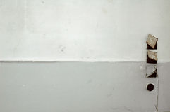 White wall background. A white wall background with socket cut outs Royalty Free Stock Image