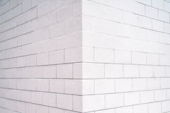White wall. Background of the white brick wall corner Royalty Free Stock Photo