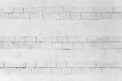 White wall background texture with bricks Royalty Free Stock Image
