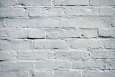 White wall. Of brick colored paint stock photo