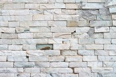 White wall bricks Stock Images