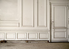 White wall in the bright ancient room Stock Images