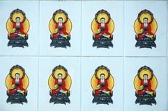 White wall with buddha Royalty Free Stock Image