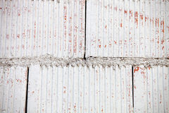 White wall of cement blocks Royalty Free Stock Photography