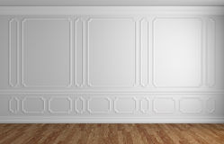 White wall in classic style empty room architectural background Royalty Free Stock Photo