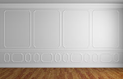 White wall in classic style empty room Royalty Free Stock Images