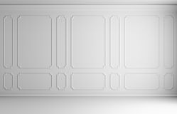 White wall in classic style room Stock Image