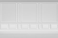 White wall in classic style Royalty Free Stock Image