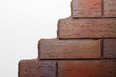 White wall with clinker bricks Royalty Free Stock Photography