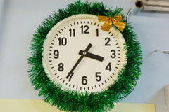White wall clock Stock Photography
