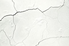 White wall, the concrete surface with cracks Royalty Free Stock Photo