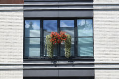 White wall of the contemporary building with balkon Stock Photos