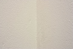 White wall corner. The corner of a wall roughly painted  white Royalty Free Stock Image