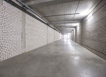 White wall  corridor to exit Royalty Free Stock Photo
