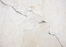 White wall with cracks Stock Photos