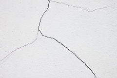 White wall with cracks Royalty Free Stock Photos