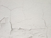 White wall with cracks Royalty Free Stock Images