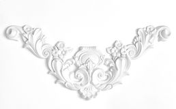 White wall decorated with stucco, in the Renaissance, Baroque. White wall decorated with stucco decorative elements of the Renaissance, Baroque stock photography