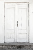 White wall and door, background texture royalty free stock photo
